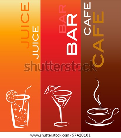 beverage icons; design template , vector illustration - stock vector