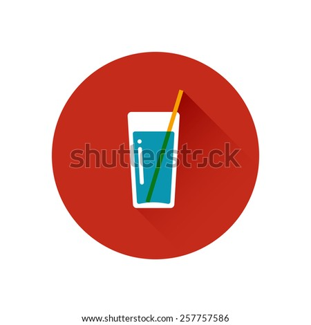 Beverages vector Icon. Soft drink. Trendy flat design style. Vector element for web design and infographics. Menu element for cafe or restaurant with energetic fresh drink made in flat style - stock vector