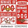 beware of dog - stock vector