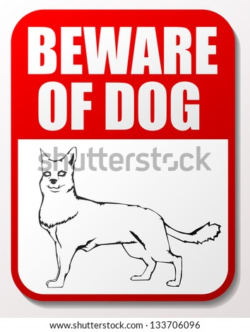 Beware of dog signs eps10 - stock vector