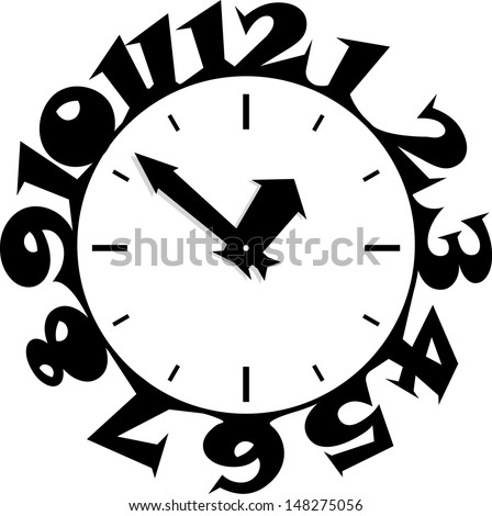 Bewitched clock - stock vector