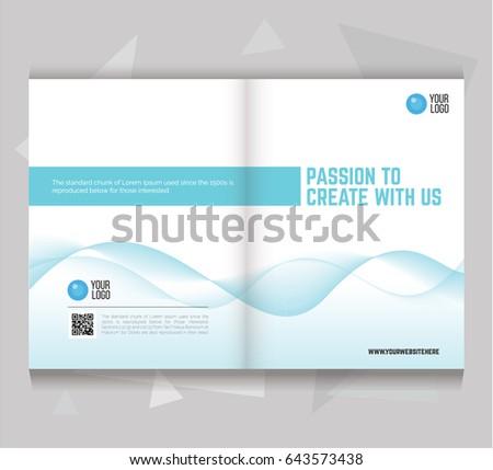 Bi Fold Brochure Flyer Template Letter Size Stock Photo Photo