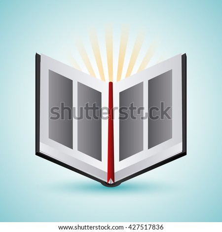 Bible design. Book icon. Flat illustration