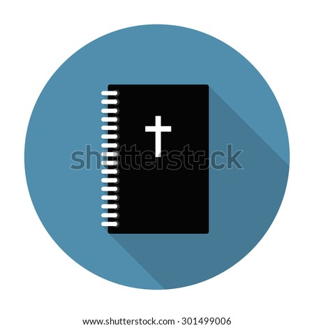 Bible flat icon. vector illustration - stock vector