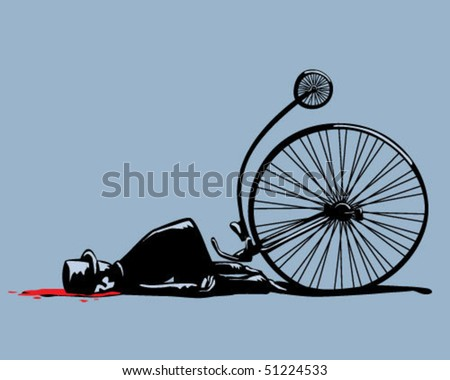 bicycle accident. - stock vector