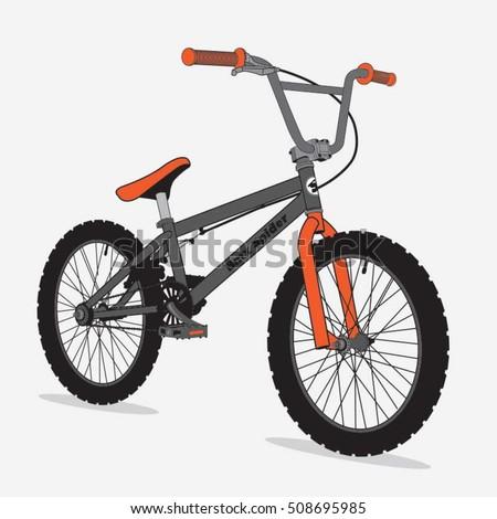 Bicycle Bmx Sport Illustration Typography Tshirt Vector de ...