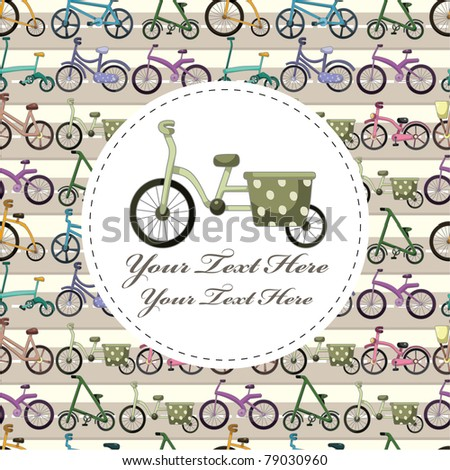 bicycle card - stock vector