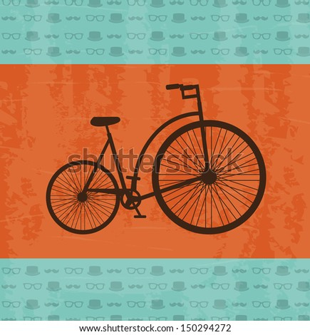 bicycle design over hipster  background vector illustration