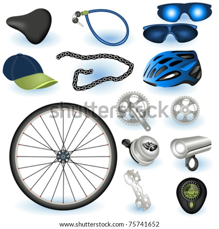 Bicycle equipment - stock vector