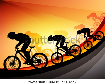 bicycle event graphic - stock vector