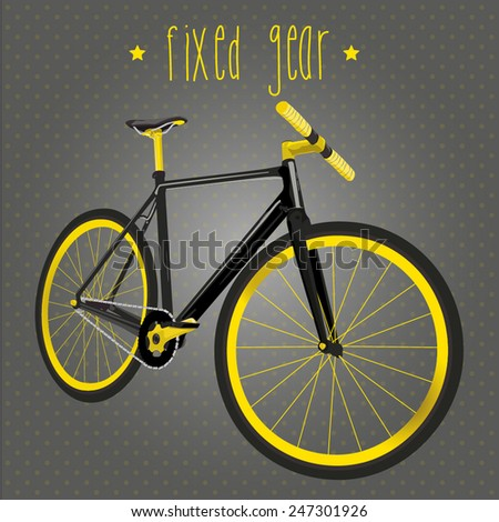 Bicycle fixed gear. - stock vector