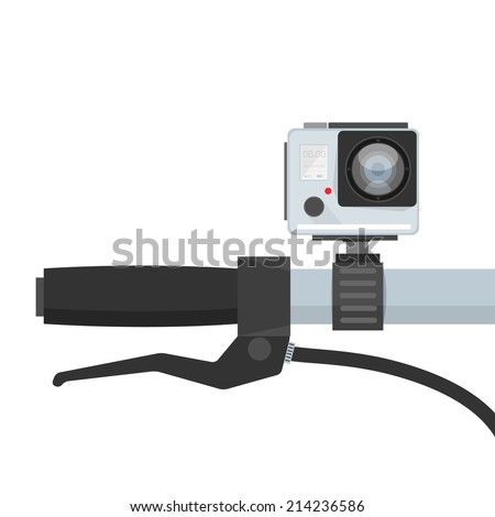 Bicycle Handlebar Camera DVR - stock vector