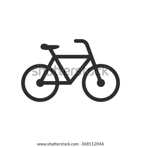 Bicycle  icon  on white background. Vector illustration. - stock vector
