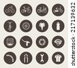 Bicycle icon set - stock vector