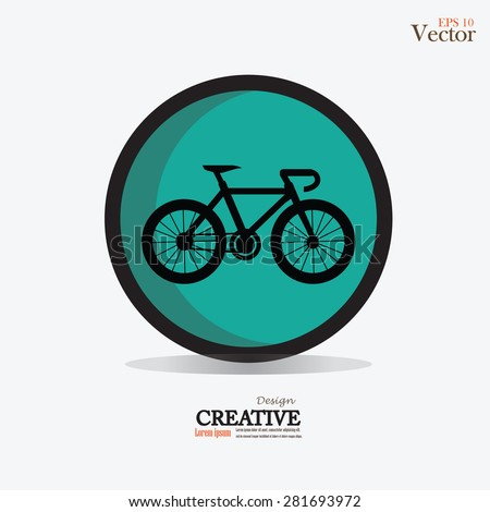 Bicycle icon vector on gray background.vector illustration.