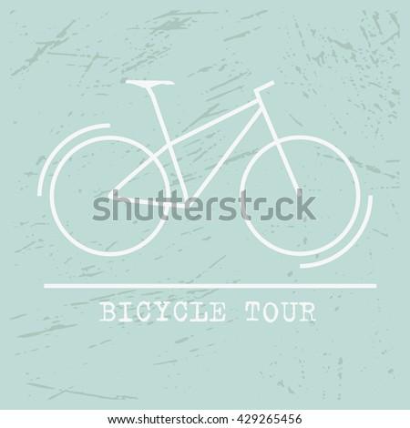 Bicycle Icon Vector Tour, bike Icon Art, bike Icon logo,bike icon Flat on blue background - stock vector