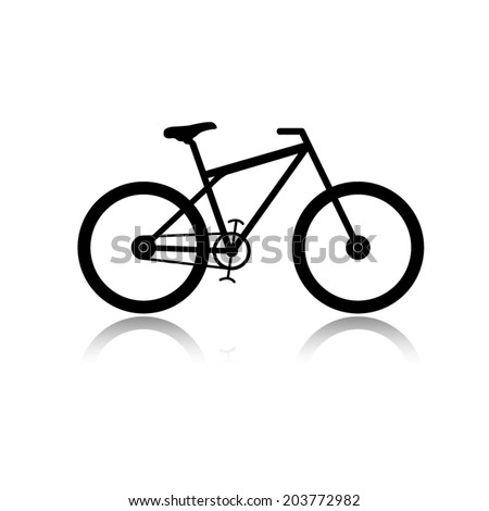 bicycle icon with shadow - stock vector