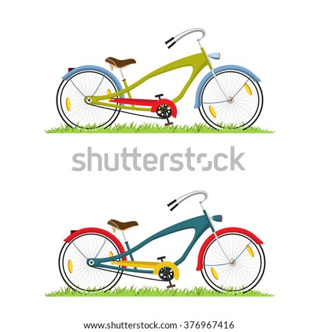 Bicycle illustration. Vector.