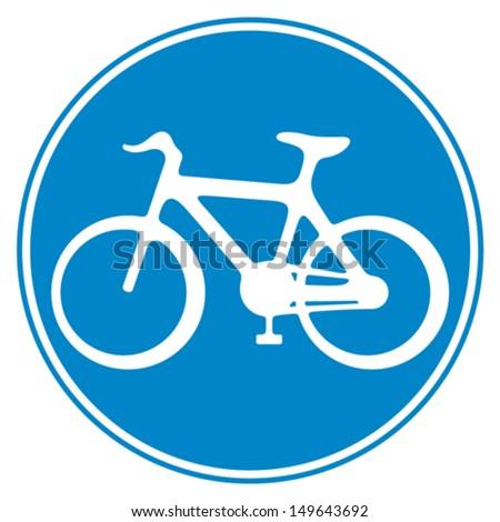 bicycle lane sign (sign of a bike, bicycle lane symbol, bike icon, cycle symbol) - stock vector
