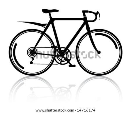 Bicycle Modern Art - stock vector