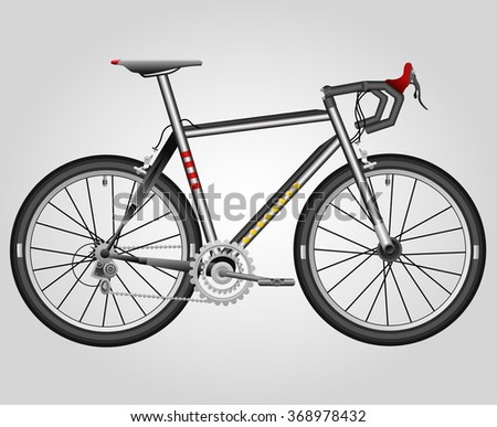 Bicycle or Sports Bike - Illustration - stock vector