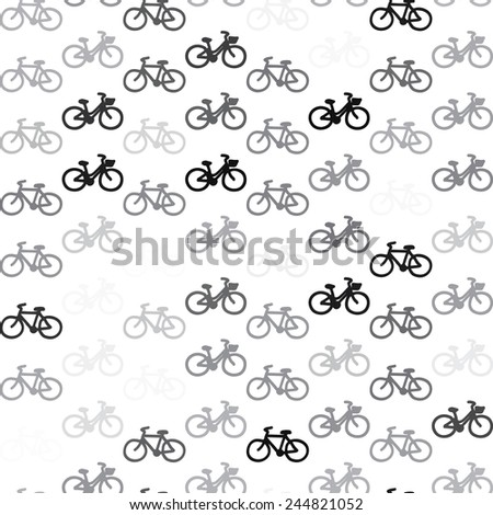 Bicycle pattern on a white background - stock vector