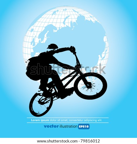Bicycle poster - stock vector