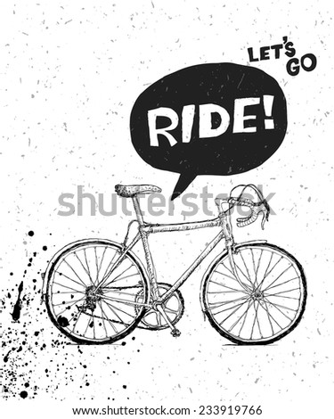 Bicycle Poster Design - stock vector
