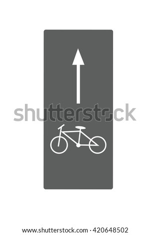 Bicycle road sign and arrow, vector illustration - stock vector