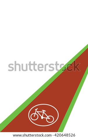 Bicycle route.Bicycle symbol on bicycle lane.bicycle route.vector illustration. - stock vector