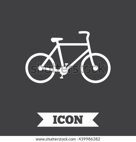 Bicycle sign icon. Eco delivery. Family vehicle symbol. Graphic design element. Flat bicycle symbol on dark background. Vector - stock vector