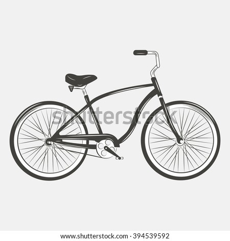 Bicycle silhouette . Bicycle Vector illustration.  - stock vector