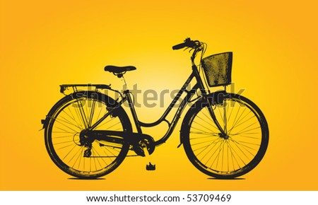 bicycle Silhouette Vector - stock vector