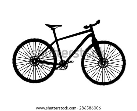 Bicycle Silhouette. Vector Illustrator. EPS10
