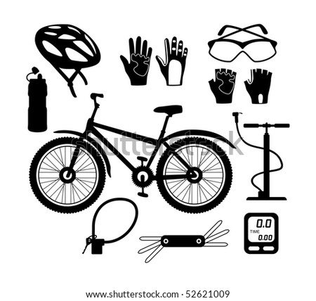 Bicycle silhouettes - stock vector