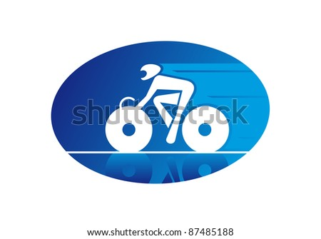 Bicycle sports, such a logo. Rasterized version also available in gallery - stock vector