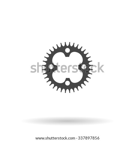 Bicycle sprocket. Icon Vector - stock vector