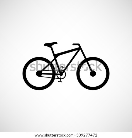 bicycle  - vector icon - stock vector