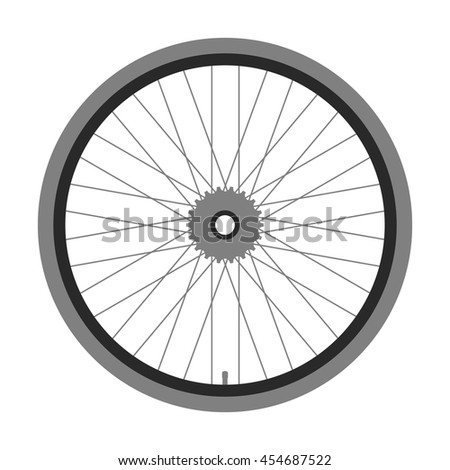 Bicycle wheel. Vector illustration