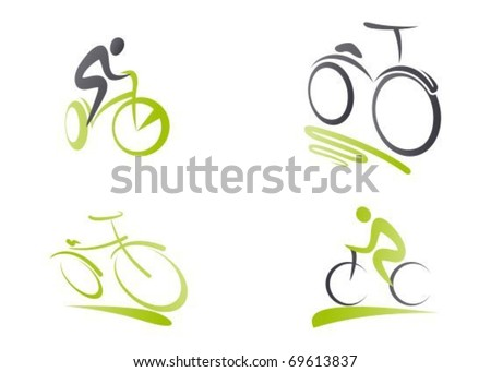 Bicycles icons - stock vector