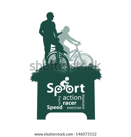 Bicyclist - stock vector