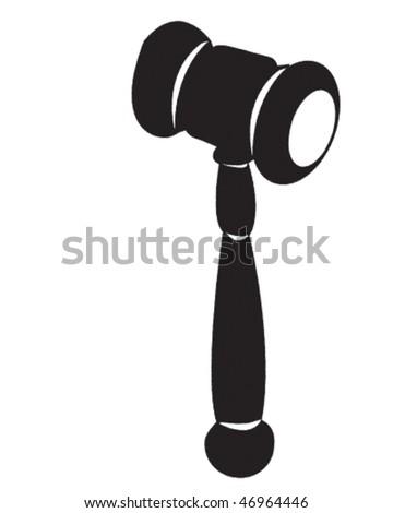 Bid Hammer - stock vector