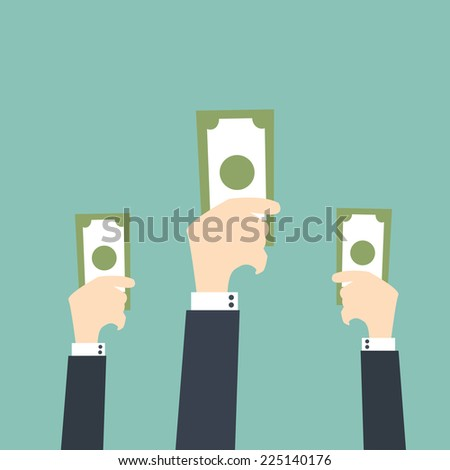 Bidding or Auction Concept - stock vector