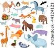 big animal set - stock vector