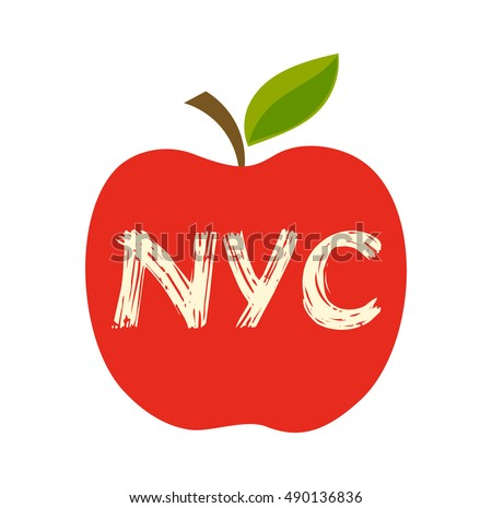 Big apple, the New York City symbol. Vector illustration