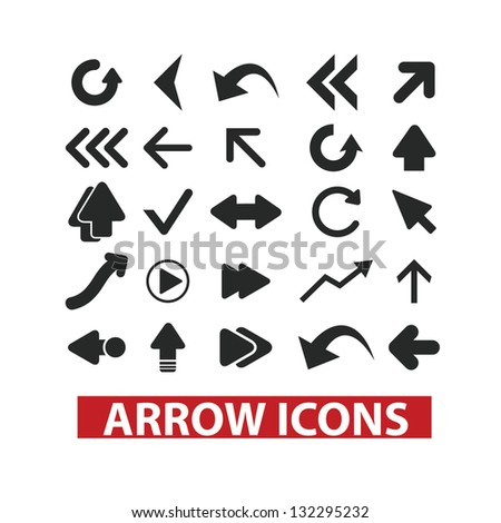 big arrow icons set, vector - stock vector