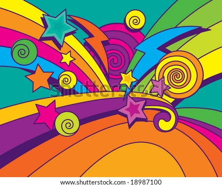 Big Bang Background (vector). In the gallery also available XXL jpeg image made from this vector - stock vector