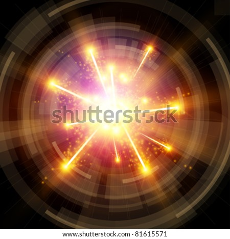 Big Bang - Explosion & radial design - stock vector