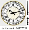 Big ben clock - vector - layered and grouped - stock vector