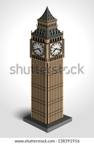 Big Ben Tower - stock vector